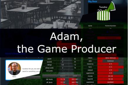 Adam, the game producer