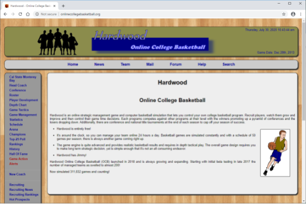 Screenshot of Hardwood Online