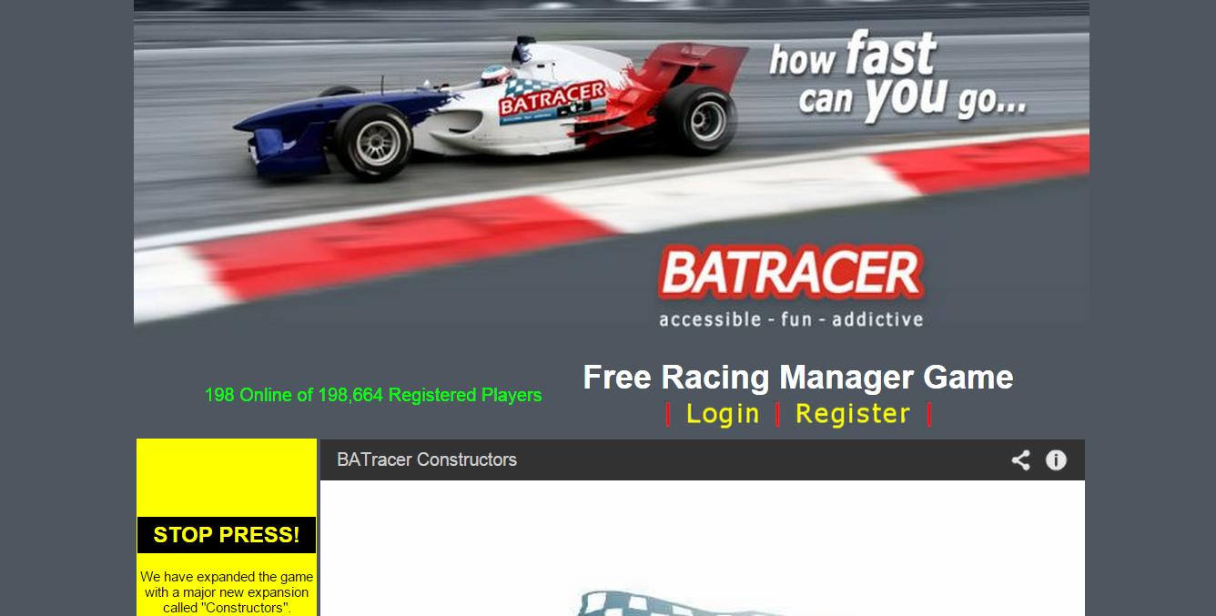 Multiplayer motorsport webgame