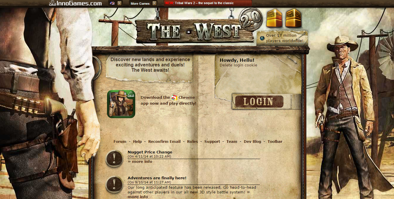 The West - text based browser game