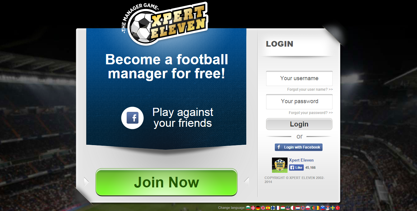 Online football management game