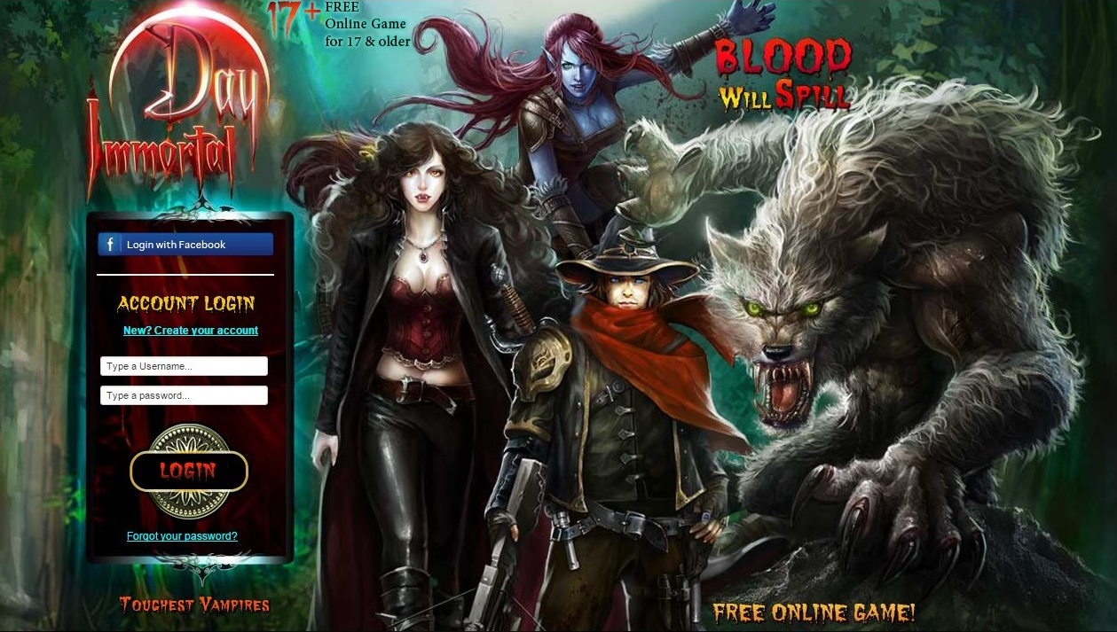 Vampires And Werewolves Games
