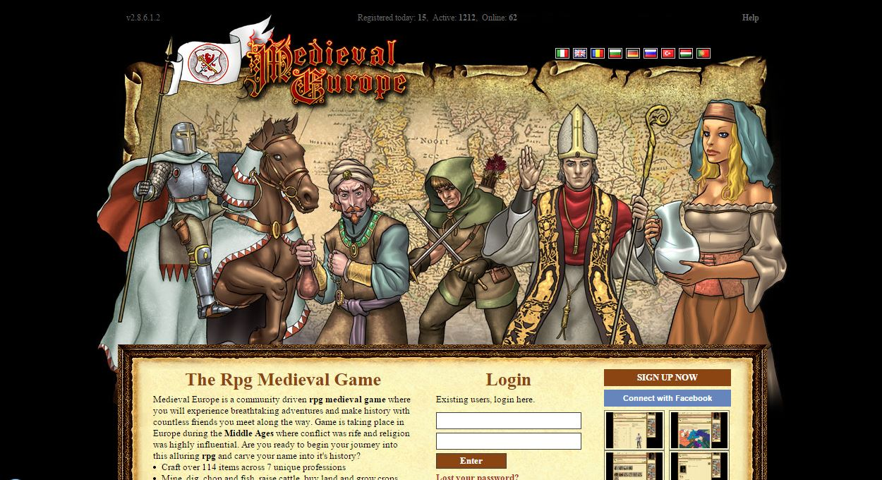 Medieval Europe - History strategy and roleplay game