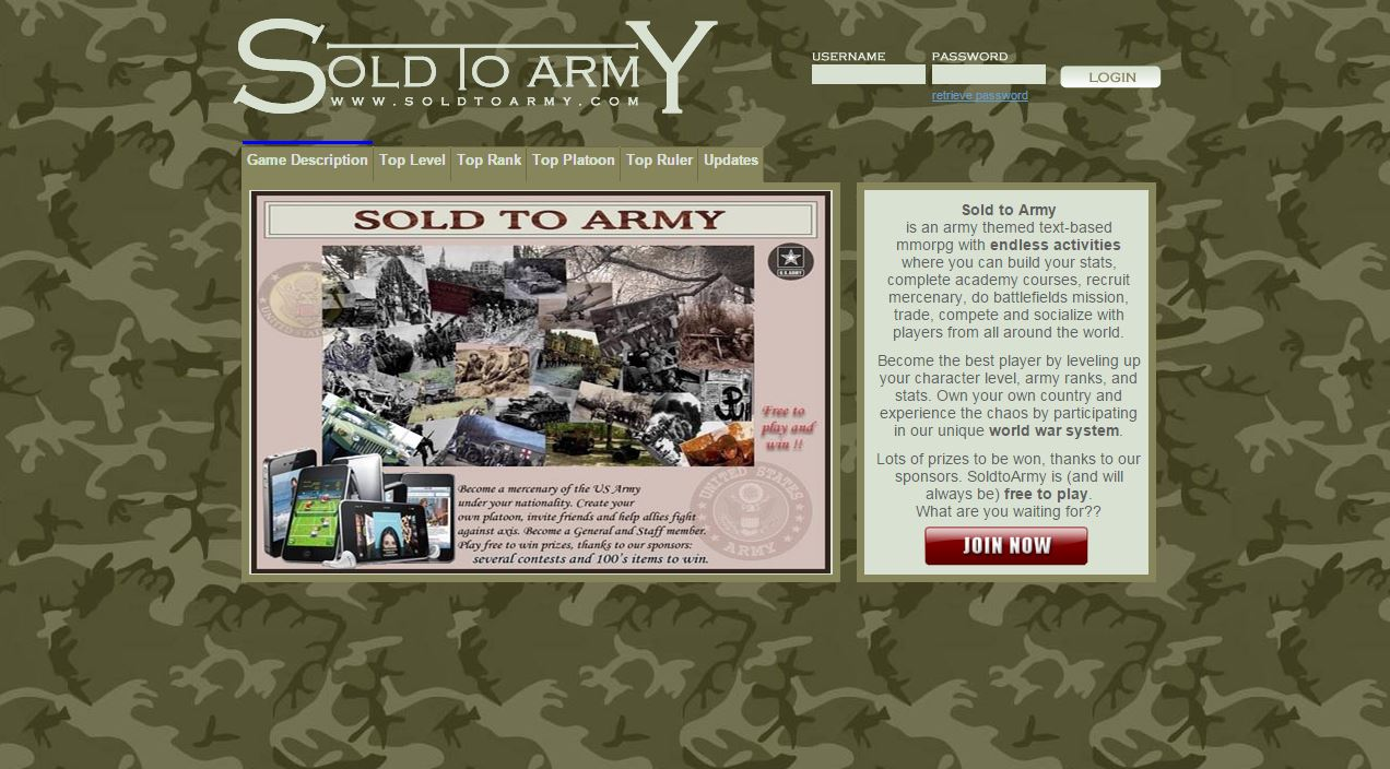 Online army browser-game