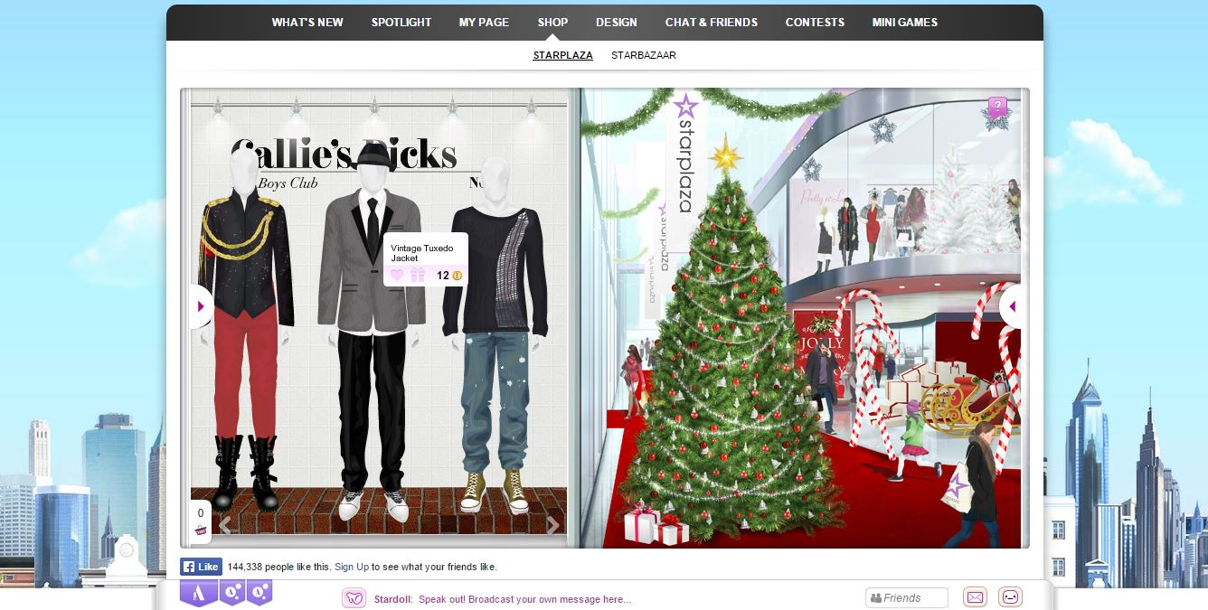 Stardoll - text based browser doll game
