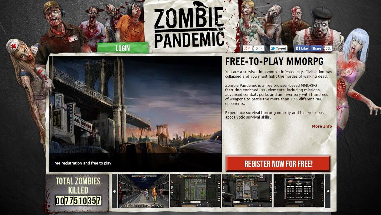 Zombie apocalypse browser game