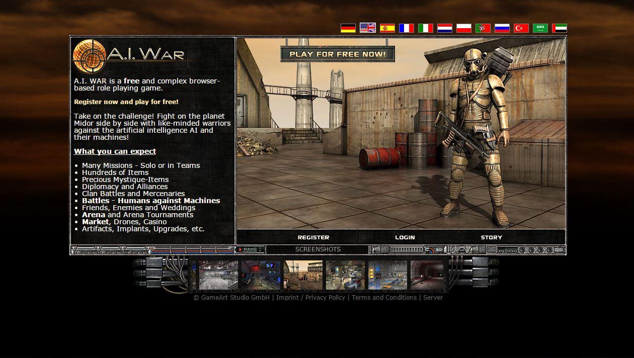 Ai War a.i. war - futuristic browser game
