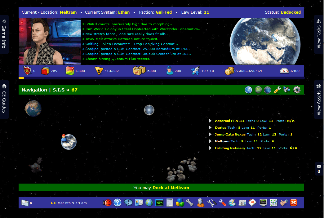 Core Exiles browser game