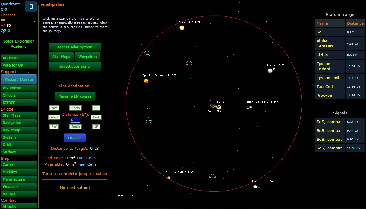 sci fi browsergames