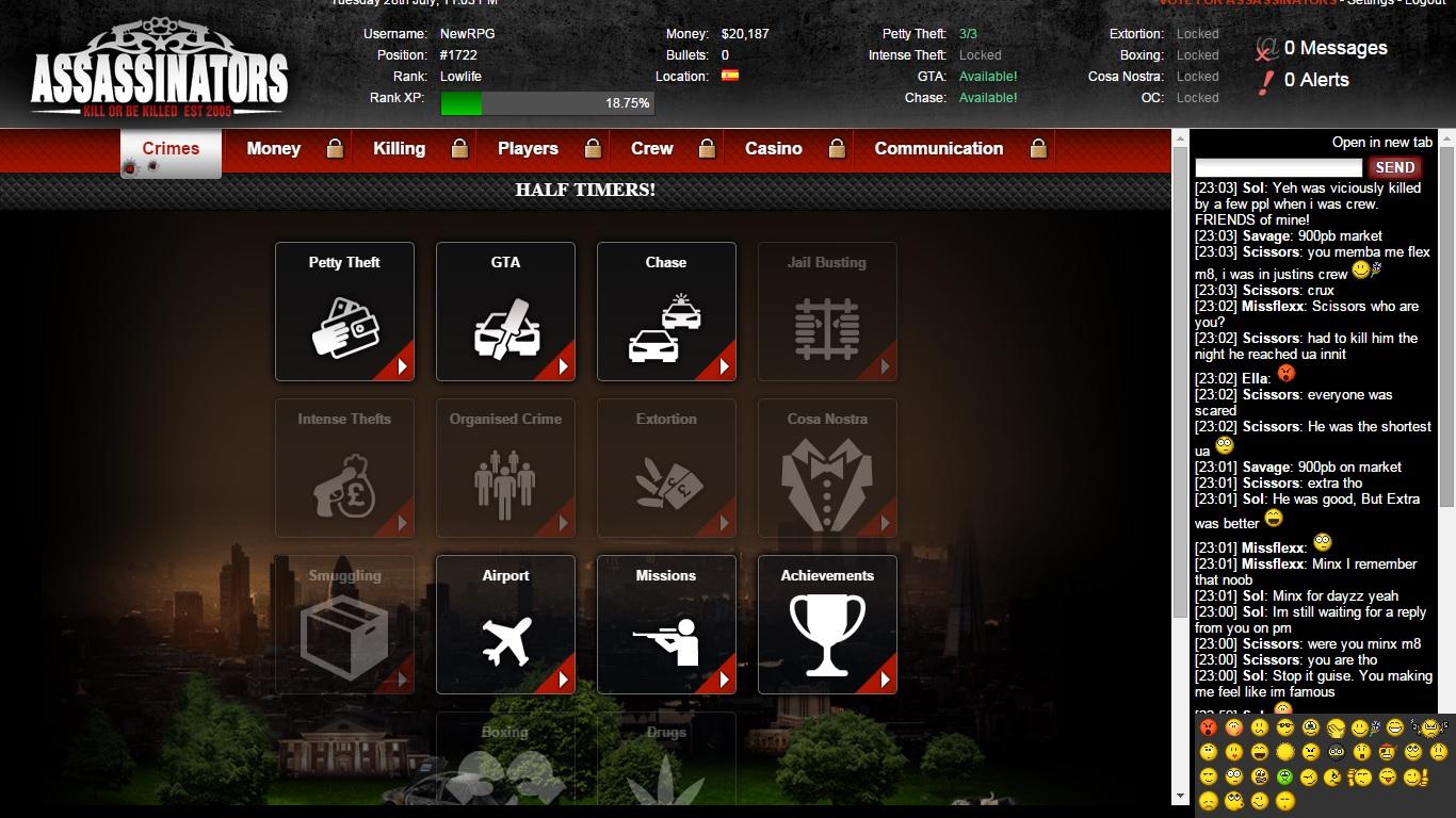 Assassinators Mafia Game