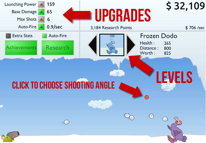 Learn to Fly clicker game