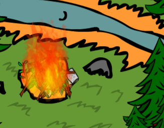Bonfire idle game