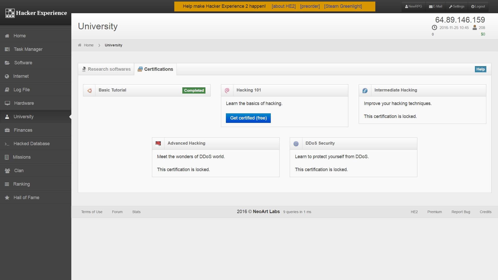 Hacker Experience - Online Simulation RPG