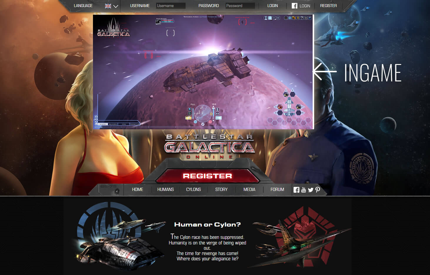 Battlestar Galactica Online Space Shooter MMO