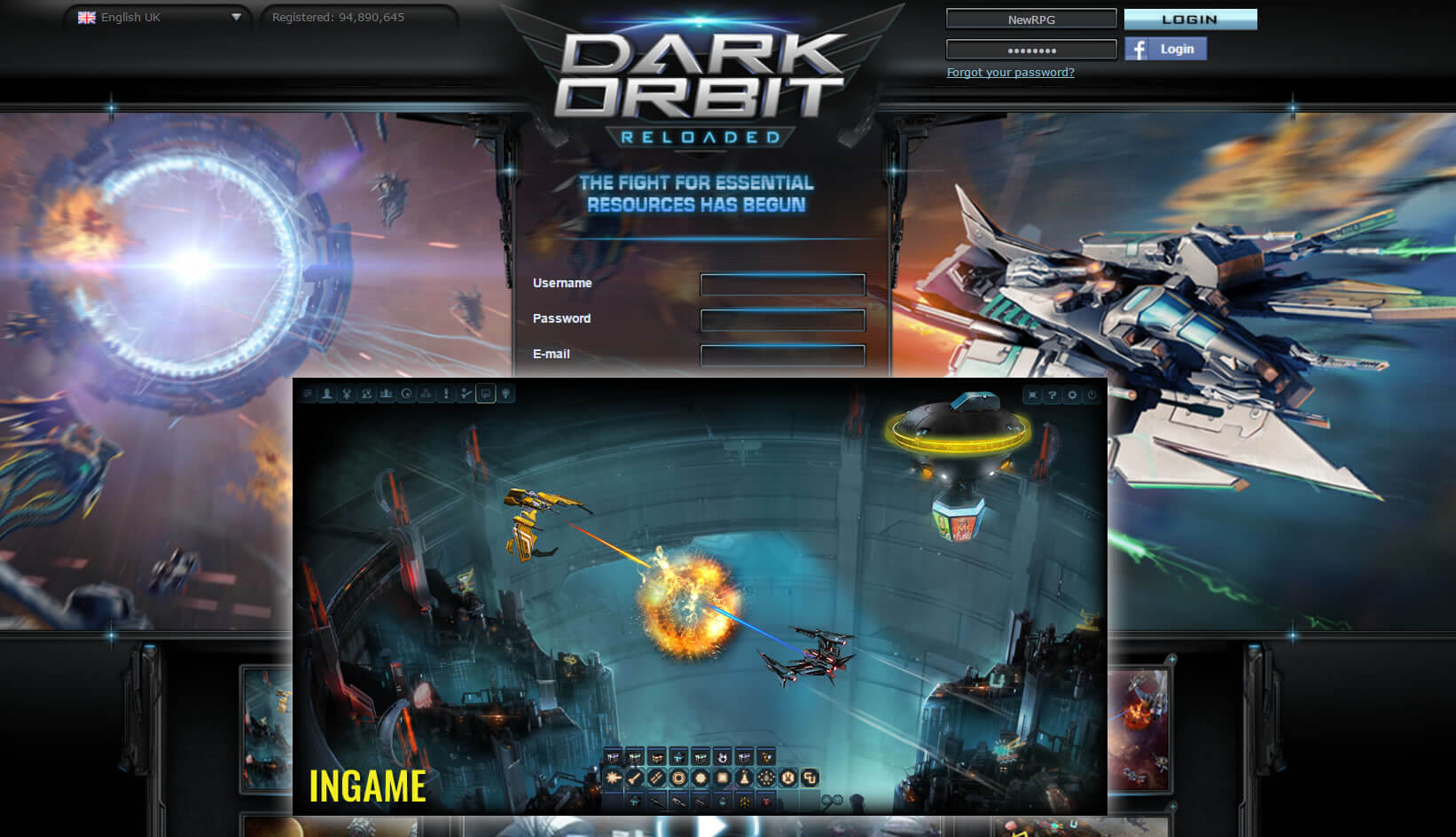 Dark Orbit reloaded Space MMORPG