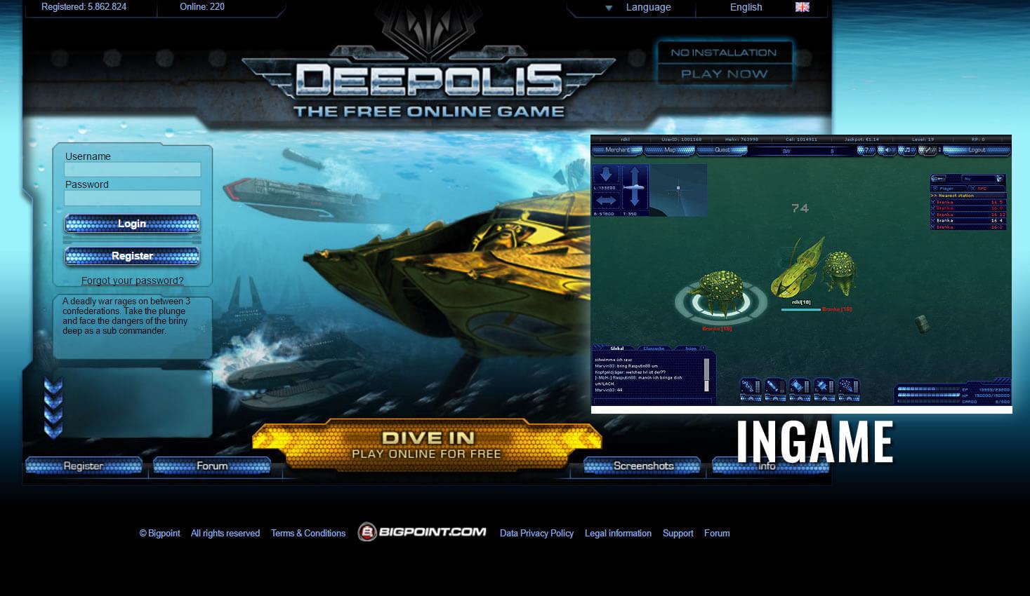 Deepolis 3D browser MMO