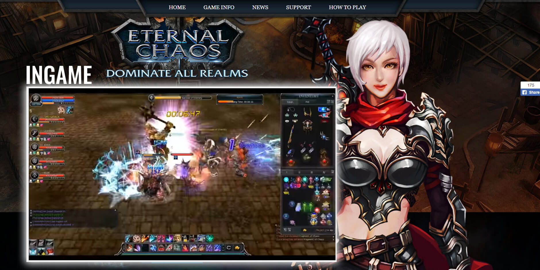 Eternal Chaos Online - 3D browser MMORPG