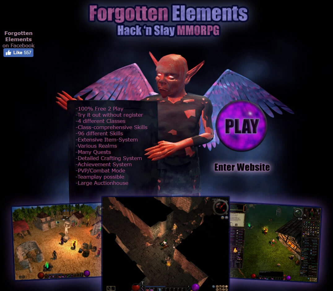 Forgotten Elements - hack 'n' slay mmorpg