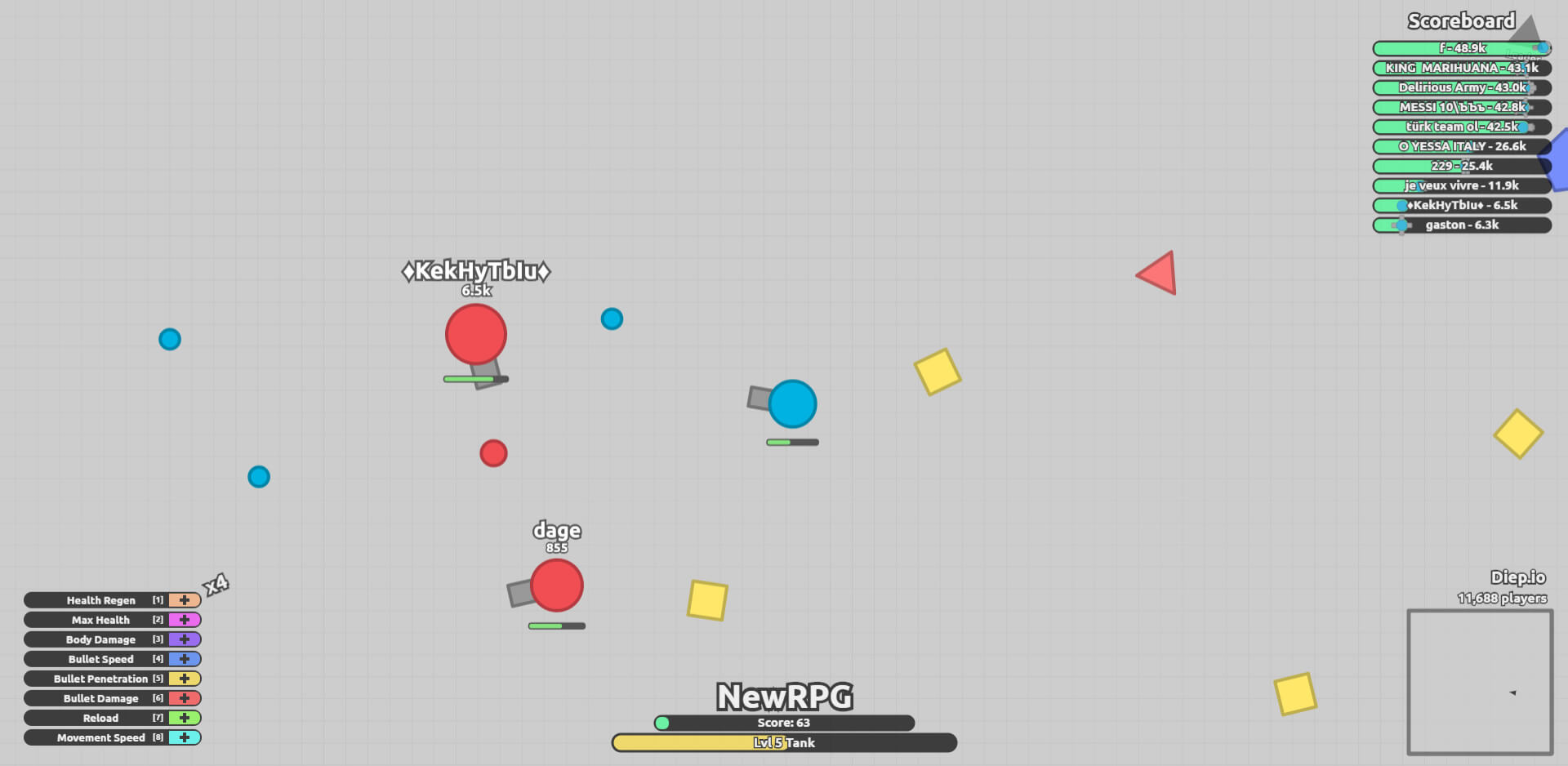DIep.io - IO Shooter game