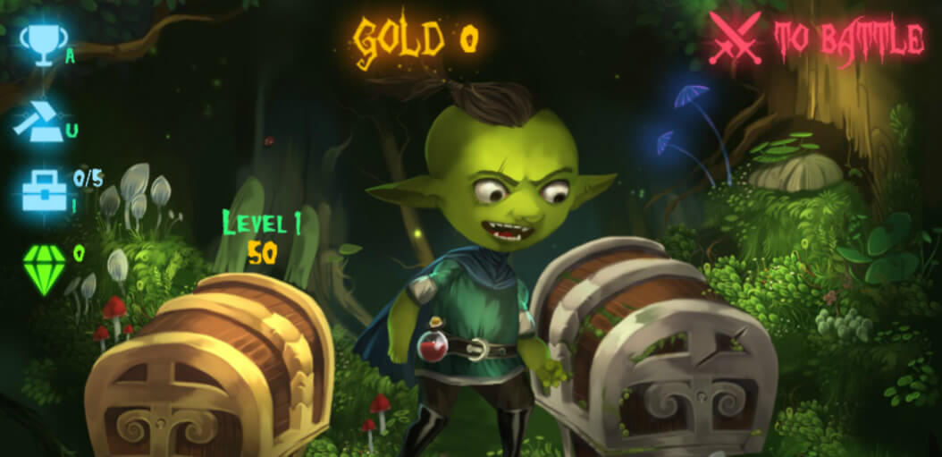 Goblin Treasure hunt clicker game
