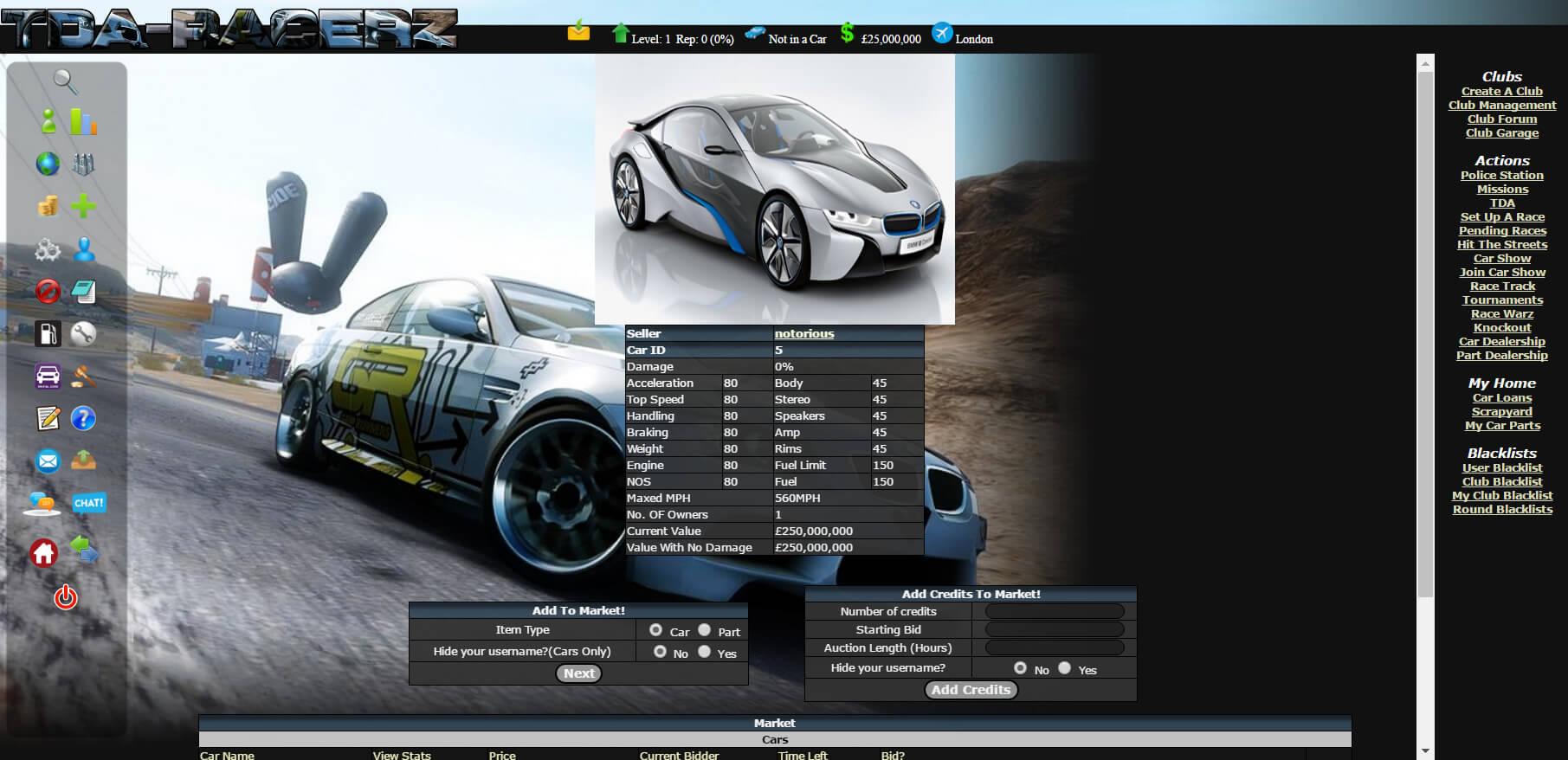 tda-racerz online racing rpg