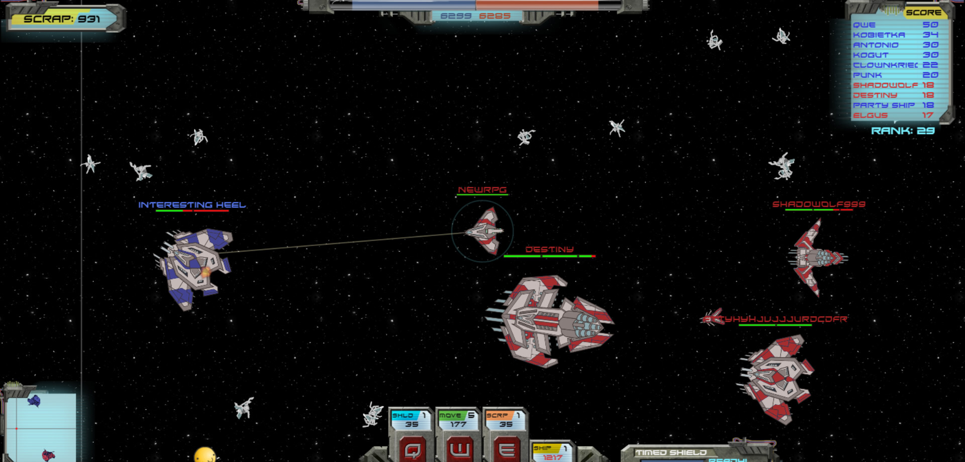 warin-space action SciFi io game