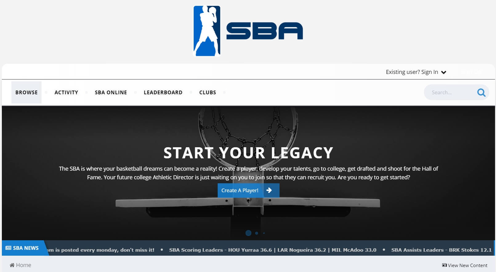 Simulation Basketball Association