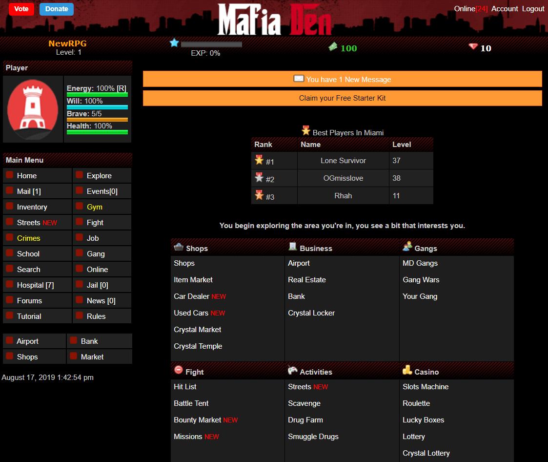 mafia den