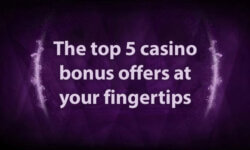 The top 5 casino bonus offers at your fingertips